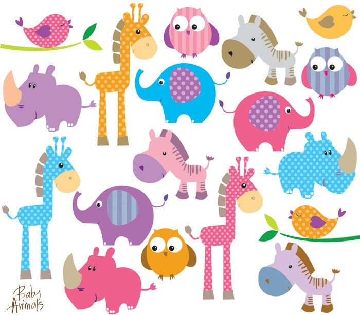 Animal Clip Art Baby Jungle Animals Clip Art Cute Animal Clip Art Cute