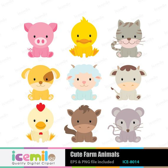 Clip Art Baby Animals Clipart clip art baby farm animals clipart kid animal digital cute