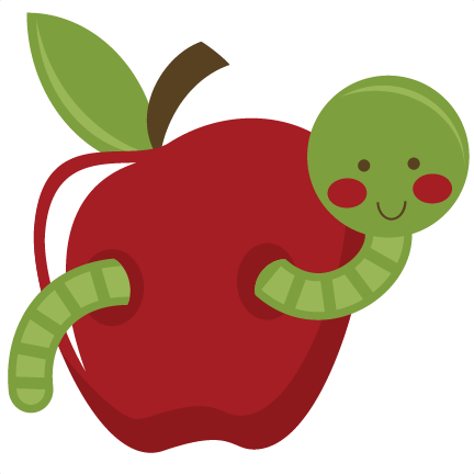Apple With Worm   Clipart Best