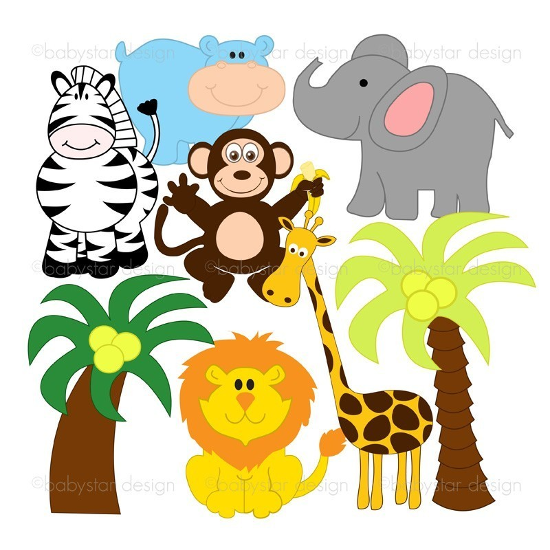 Jungle Animal Silhouette Clipart - Clipart Kid