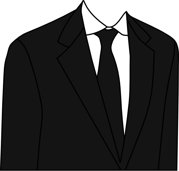 Black Suit Clip Art At Clker Com   Vector Clip Art Online Royalty