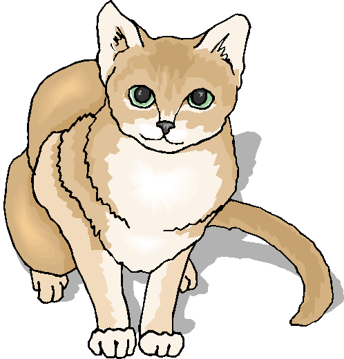 White Cat Clipart - Clipart Kid