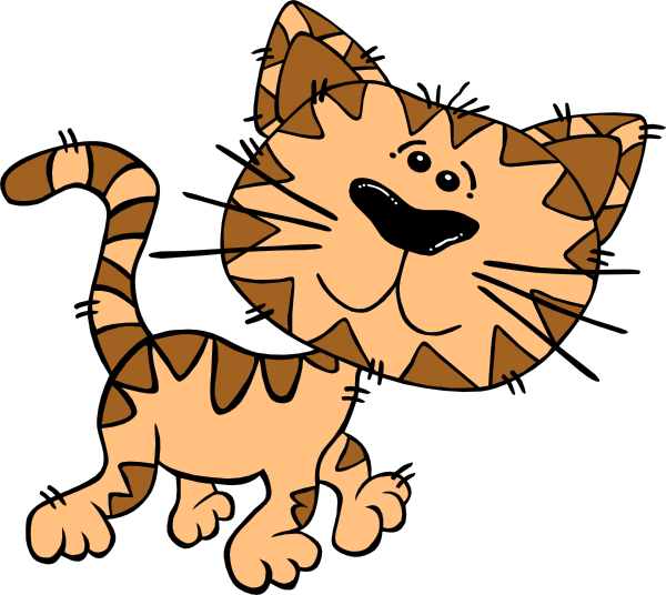 Cartoon Cat Walking Clip Art At Clker Com   Vector Clip Art Online