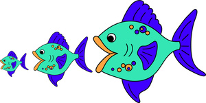Clipart On Eating Food Clipart Big Fish Food Chain Clipart Clipart