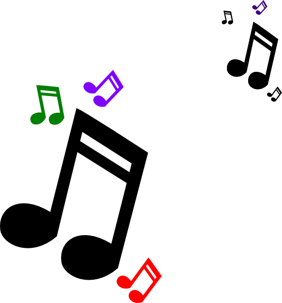 Colored Music Notes Clip Art At Clker Com   Vector Clip Art Online