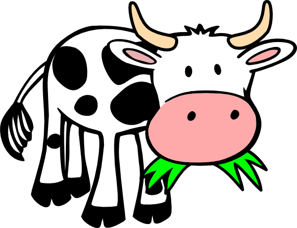 Cow Eating Grass Clip Art At Clker Com   Vector Clip Art Online
