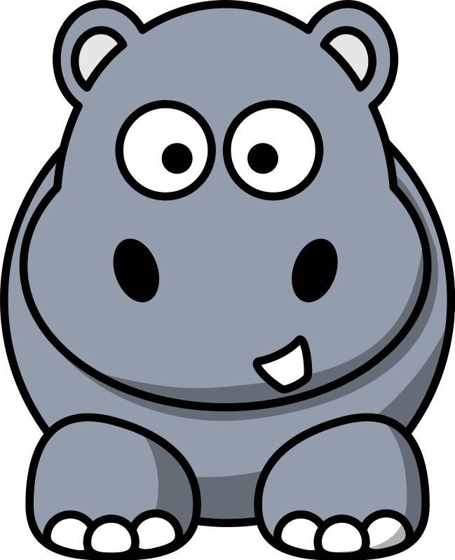 Free Clip Art Animals Hippo Animal Clipart Png