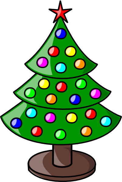 Free Small Colorful Christmas Tree Clip Art