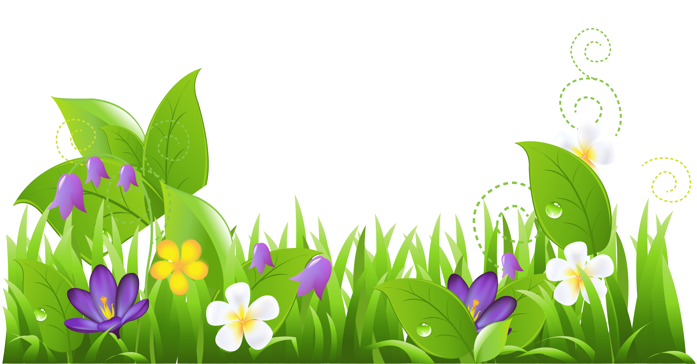Grass And Flowers Png Clipart