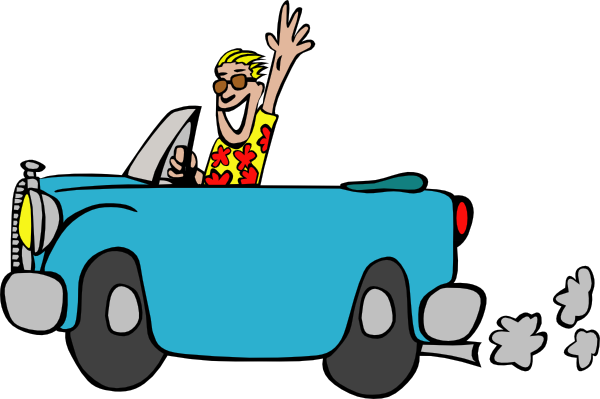 Man Driving Car Clip Art At Clker Com   Vector Clip Art Online