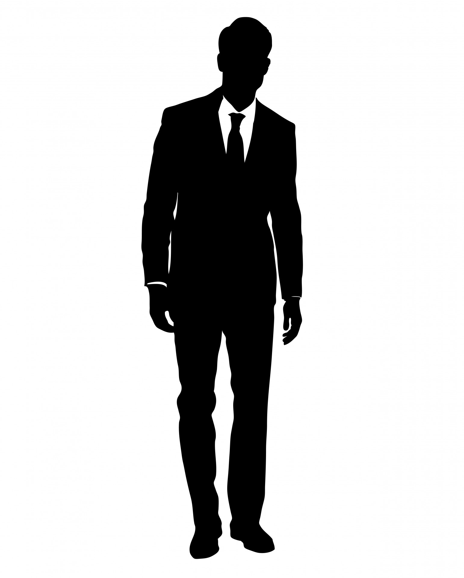 Black suit drawing