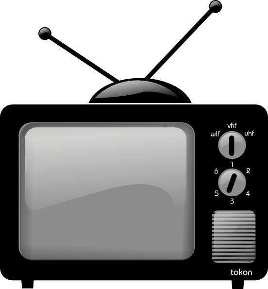 Old Television Clip Art At Clker Com   Vector Clip Art Online Royalty