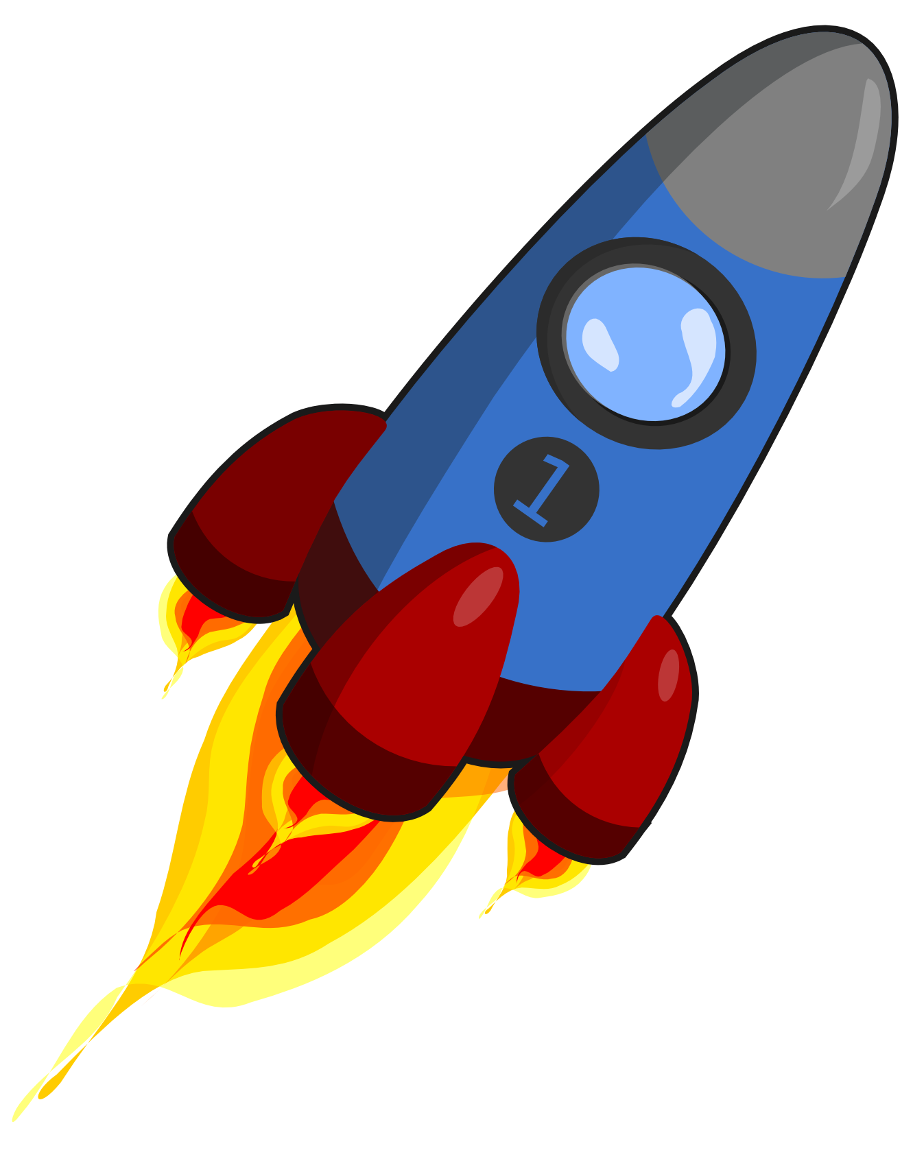 Rocket Blue And Red Christmas Xmas Electronics Toy Coloring Book