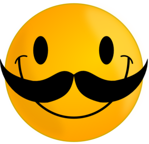 Smile With Mustache Clip Art At Clker Com   Vector Clip Art Online