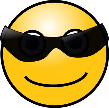 Sun Glasses Cool Smiley Clip Art Free Vector In Open Office Drawing