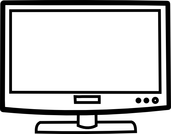 Television Outline Clipart - Clipart Kid
