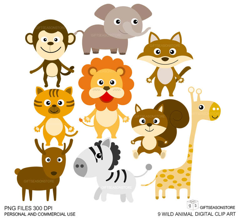 Wild Animal Clipart - Clipart Kid