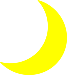 Yellow Moon Clip Art At Clker Com   Vector Clip Art Online Royalty