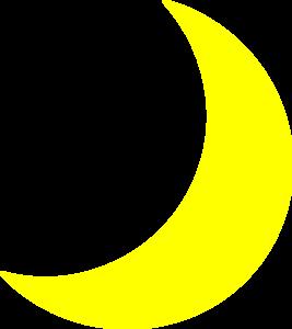 Clip Art Moon Clipart yellow crescent moon clipart kid clip art at clker com vector online royalty