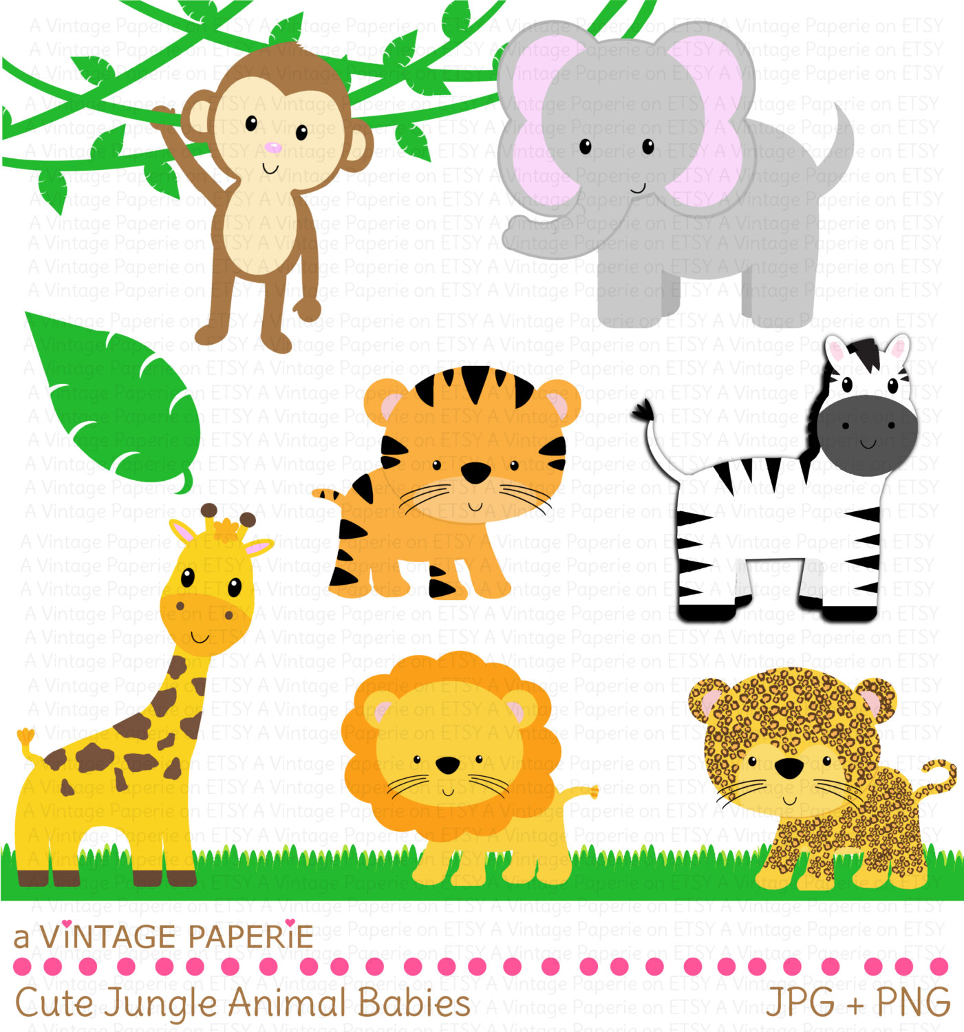 Zoo And Jungle Animals Clipart Pictures