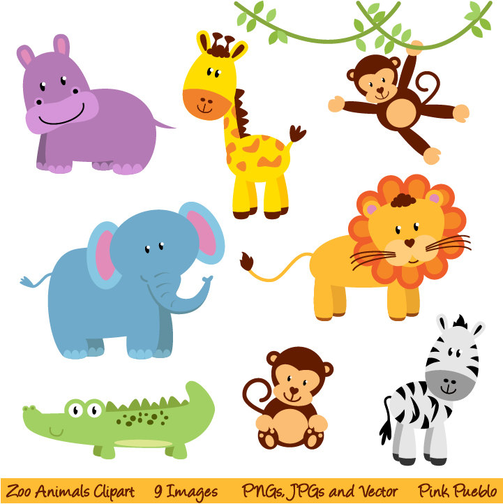 Zoo Animals Clipart Clip Art New Jungle By Pinkpueblo