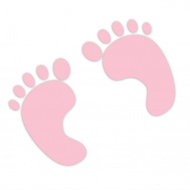 Baby Footprints Pink Clipart Free Stock Photo   Public Domain Pictures