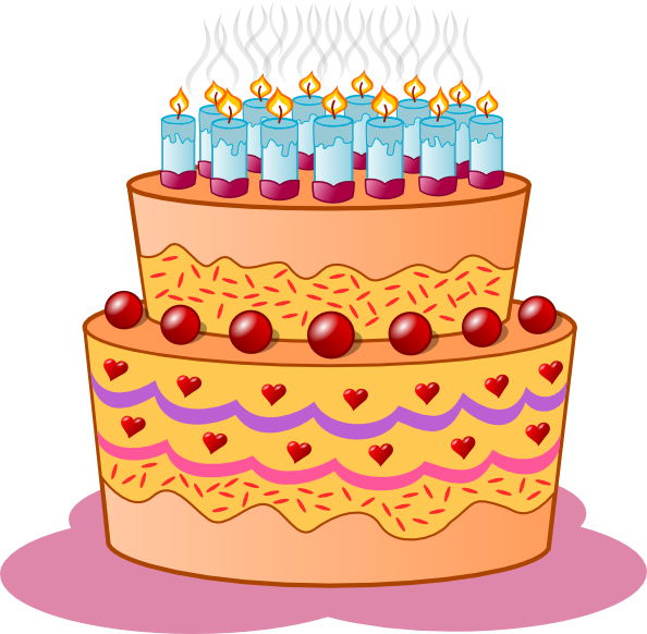Birthday Cake Clip Art At Clker Com   Vector Clip Art Online Royalty