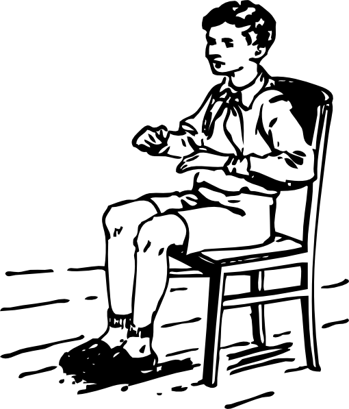 Boy Sitting In Chair Clip Art At Clker Com   Vector Clip Art Online