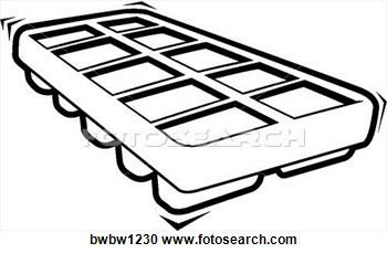 Clipart   Ice Cube Tray  Fotosearch   Search Clipart Illustration