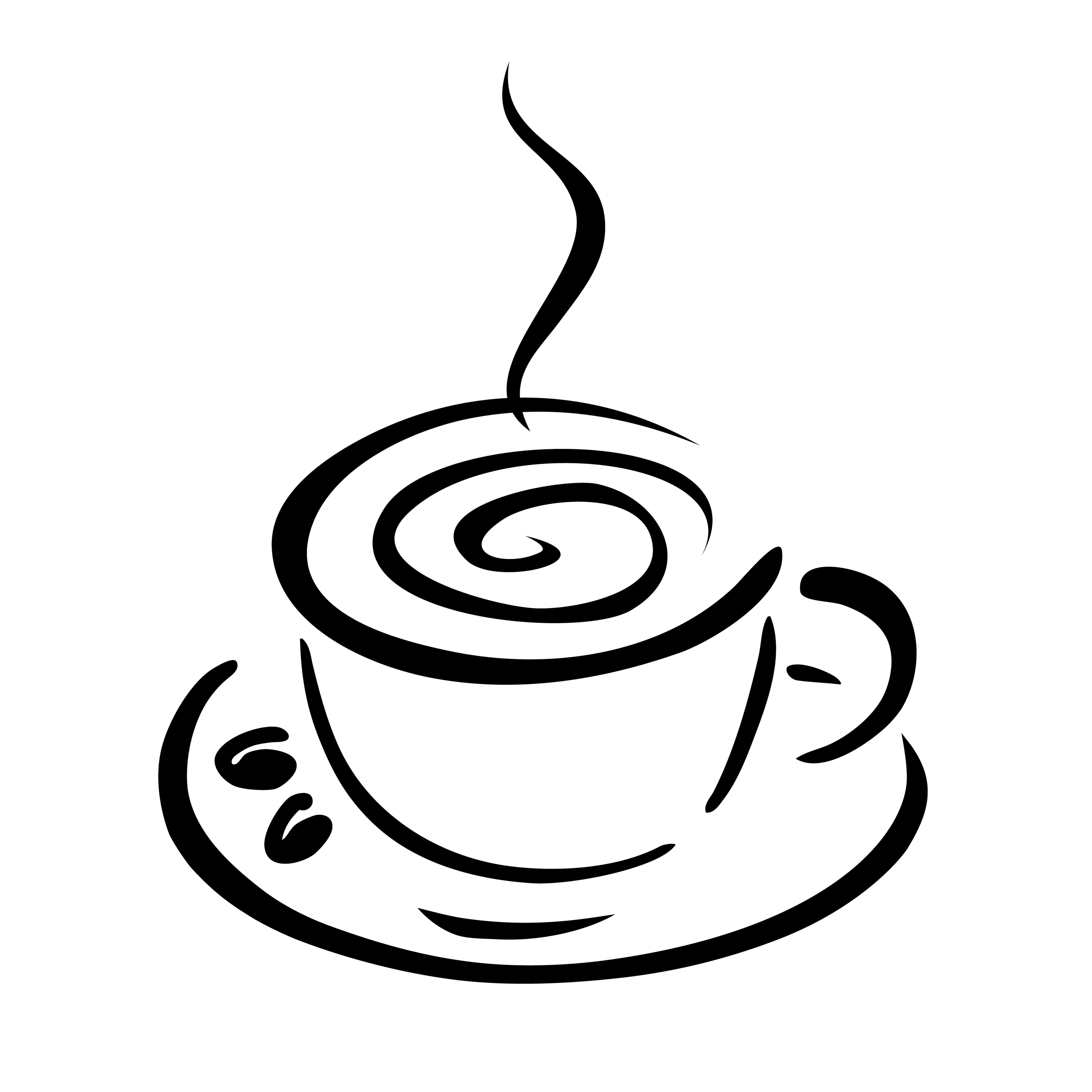 Coffee Cup Clip Art Black White   Clipart Panda   Free Clipart Images