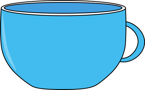 Cup Clip Art Image   Large Blue Coffee Or Tea Cup With A Handle