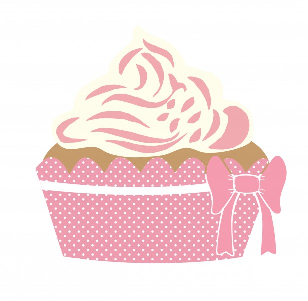 Cute Cupcake Pink Clipart By Karen Arnold
