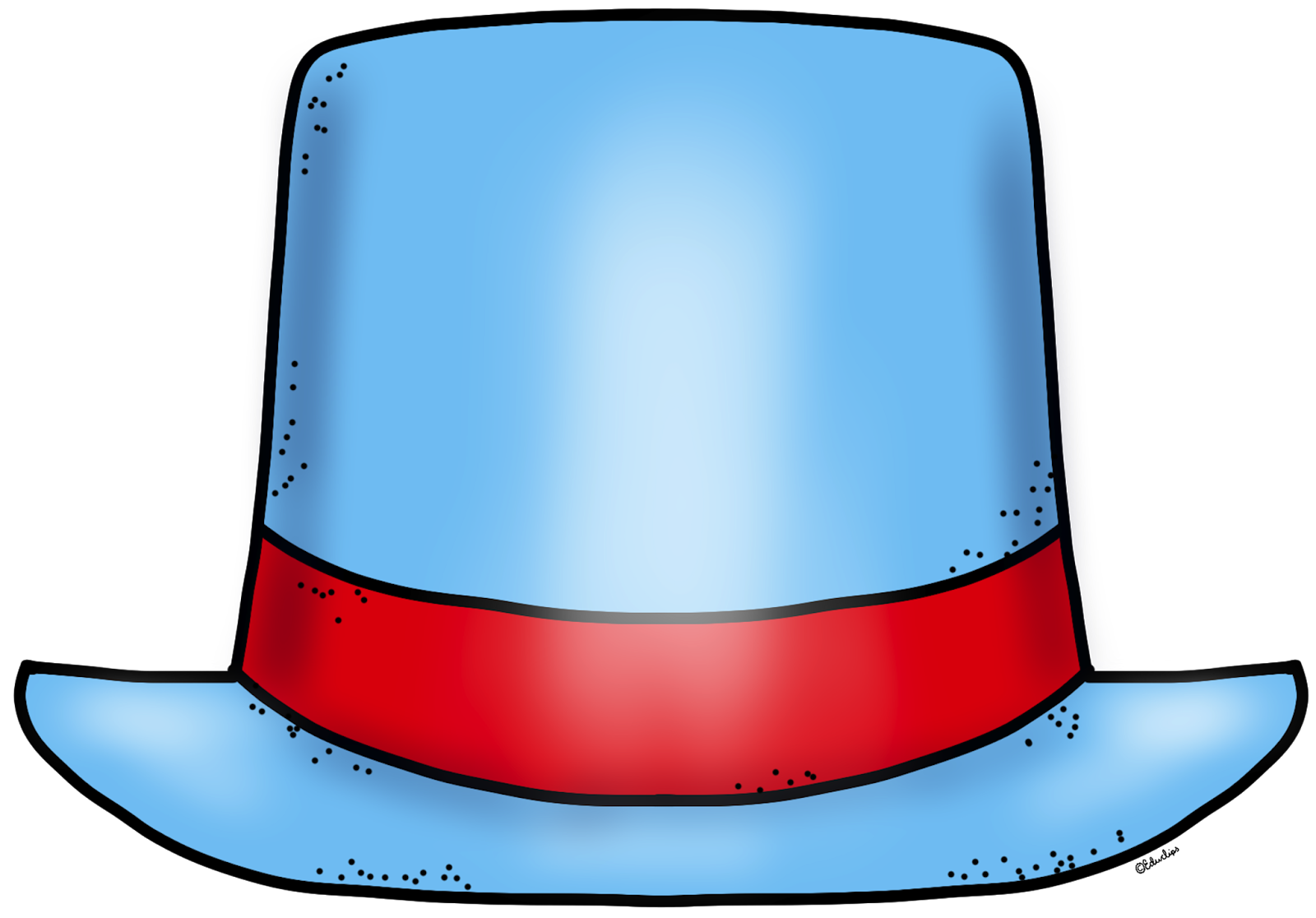 Educlips   Educasong   Free  Blank New Year Top Hat Clip Art