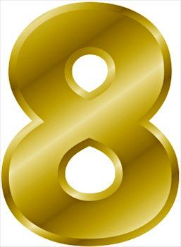 Free Gold Number 8 Clipart   Free Clipart Graphics Images And Photos