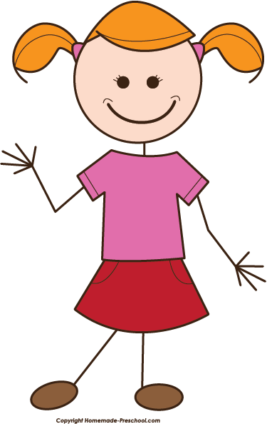 Girl Clipart Stick Figure   Clipart Panda   Free Clipart Images