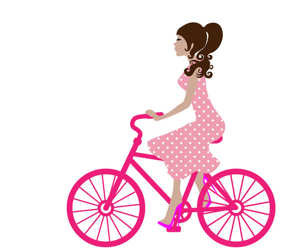 Girl On Bike Clipart Free Stock Photo   Public Domain Pictures