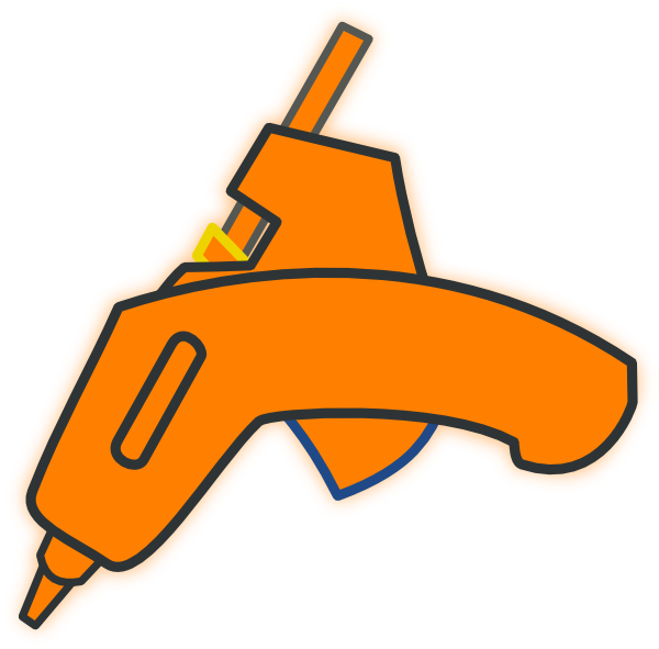Glue Gun Tango Icon Clip Art At Clker Com   Vector Clip Art Online