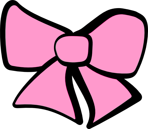 Hair Bow Pink Clip Art At Clker Com   Vector Clip Art Online Royalty