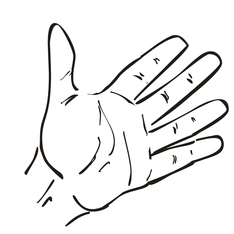 Open Hands Clipart Black And White