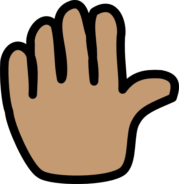 Image Gallery hand wave clip art