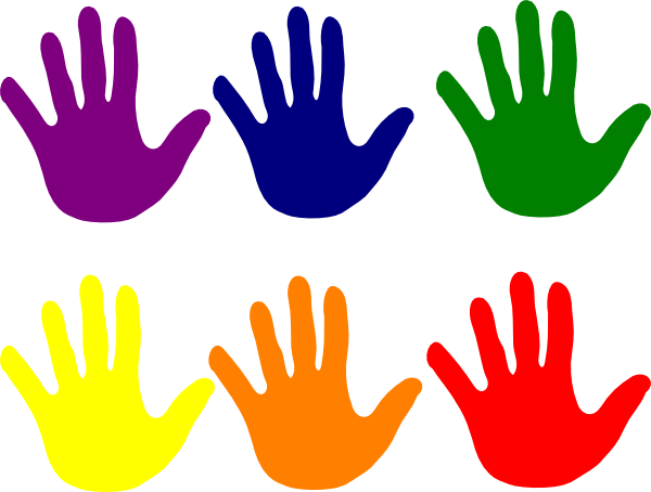 Hands   Various Colors Clip Art