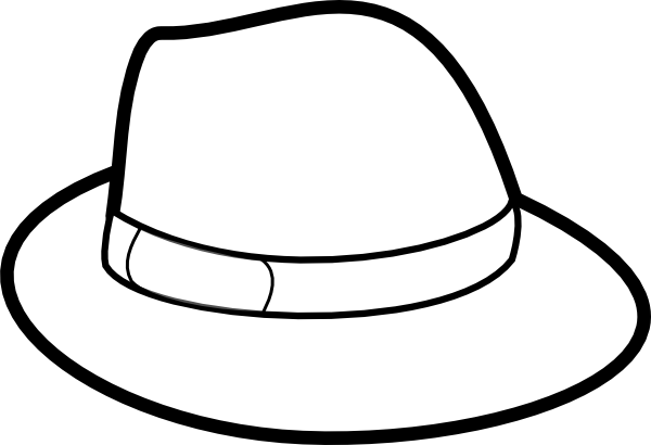 Hat Outline Clip Art At Clker Com   Vector Clip Art Online Royalty