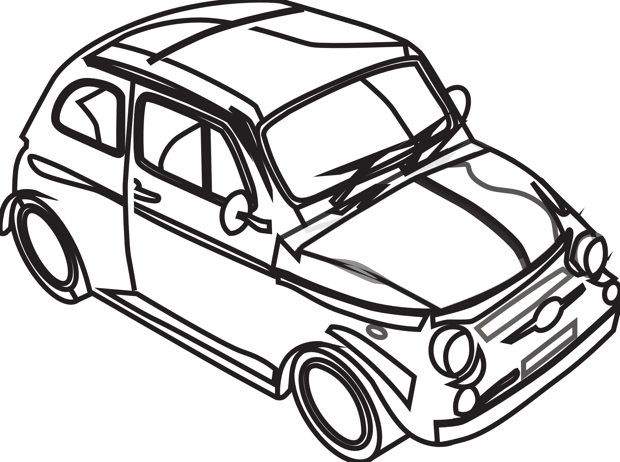 free clipart black and white car - photo #14