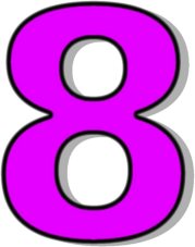 Number 8 Purple   Http   Www Wpclipart Com Signs Symbol Alphabets