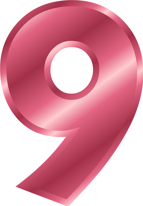 Number 9   Vector Clip Art