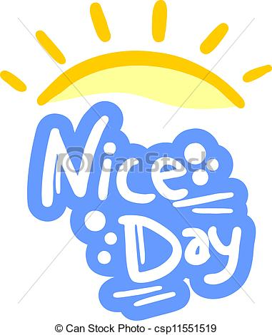 Of Nice Day   Creative Design Of Nice Day Csp11551519   Search Clipart