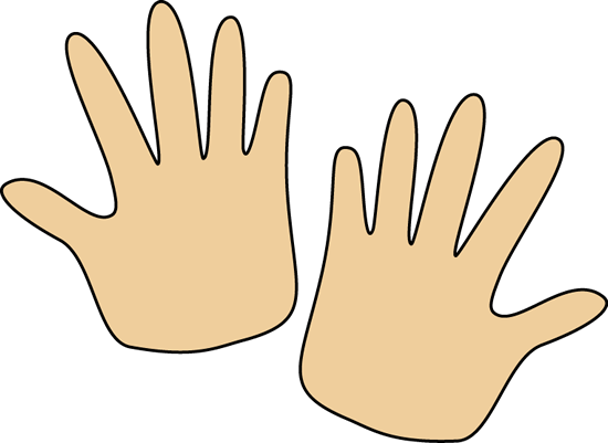 Pair Of Hands Clip Art Image   Pair Of Blank Hands  This Image Is A