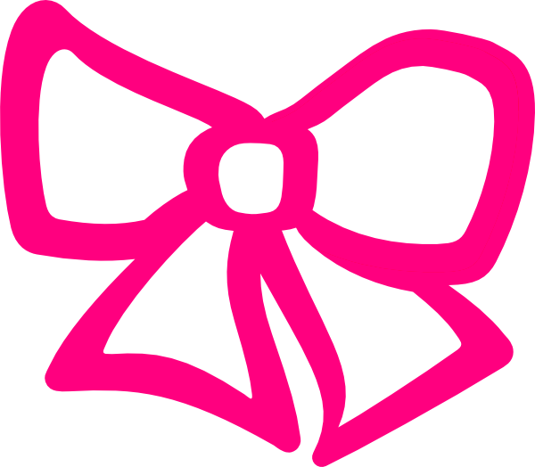 Pink Hair Bow Clip Art At Clker Com   Vector Clip Art Online Royalty