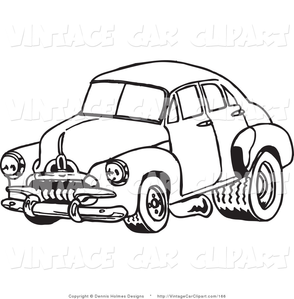 Race Car Clipart Black And White Clipart Of A Vintage Black And White