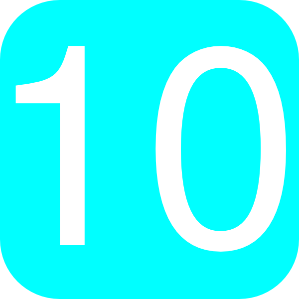 Rounded Square With Number 10 Clip Art At Clker Com   Vector Clip
